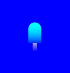 colorful gradient ice cream logo design template vector image