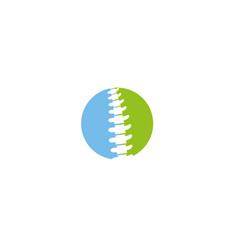 creative circle spine logo vector image