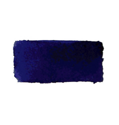 dark blue watercolor smear brush strokes vector image