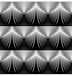 Design seamless monochrome shell pattern vector image