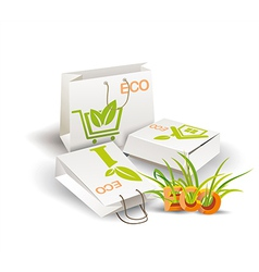 Eco Product Eco packing vector image