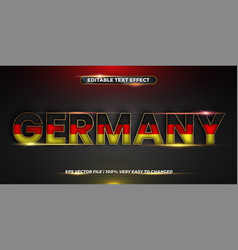 Editable text effect germany word with national vector