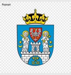 Emblem city poland vector
