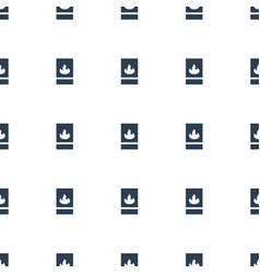 Fire protection icon pattern seamless white vector