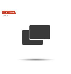 folder flat icon logo vector image