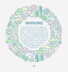 food intolerance concept in circle vector image