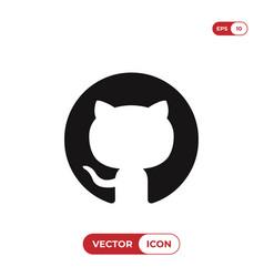 Github logo icon vector