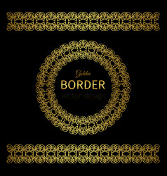 golden border and rosette vector image