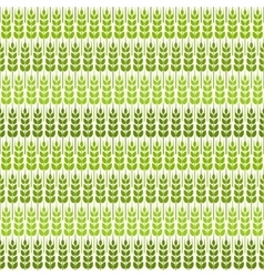 green wheat seamless pattern vector image