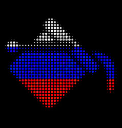 halftone russian paint bucket icon vector image