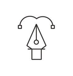 Heart pen tool icon black vector