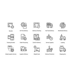 Hippy logistics delivery icons vector