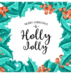 Holly Jolly - Christmas background art vector