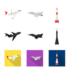 Isolated object of plane and transport logo vector