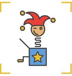 Jack in box color icon vector
