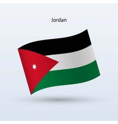 Jordan flag waving form vector image