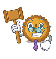 Judge apple pie isolated in the mascot vector