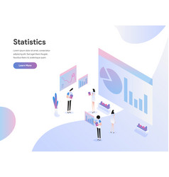 landing page template data statistics vector image