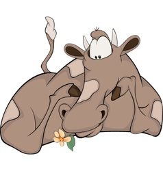 Lovely happy cow vector image