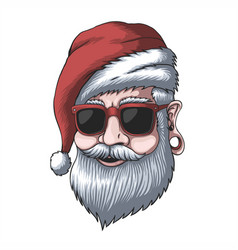 man wearing a santa hat for christmas vector image