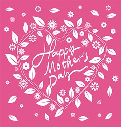 Mothers Day-themed wreath font design vector