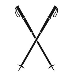 Nord walking sticks icon simple style vector