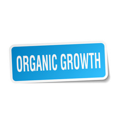 Organic growth square sticker on white vector