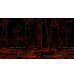 Painted the background forest in the swamp at dusk vector