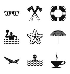 Professional sport icons set simple style vector