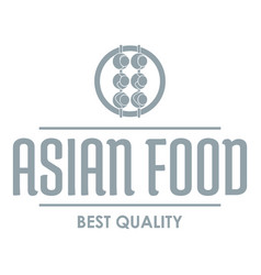 Quality asian food logo simple gray style vector