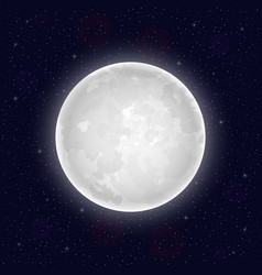 realistic full moon vector image