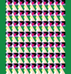 seamless colorful geometric polygons patterns vector image