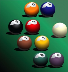 snooker pool ball vector image
