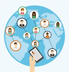 social net working vector image
