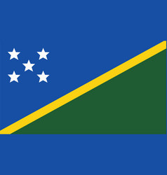 Solomon islands flag for independence day and vector