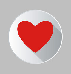 sticker heart icon isolated on background modern vector image