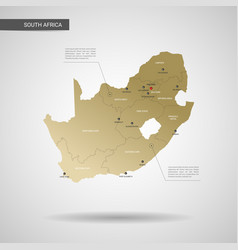 stylized republic of south africa map vector image