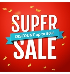 Super Sale inscription on the red background vector image vector image