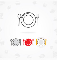 table setting icon vector image