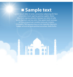 Taj mahal world sightseeing collection vector