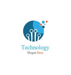technology symbol vector image