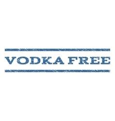 Vodka Free Watermark Stamp vector image