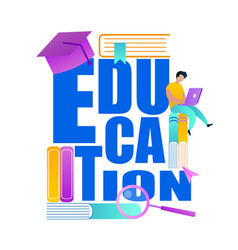 word education deacorated with school accessories vector image