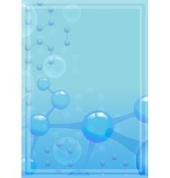 Abstract molecular background with blue molecule vector image vector image