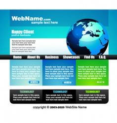 business website template vector image