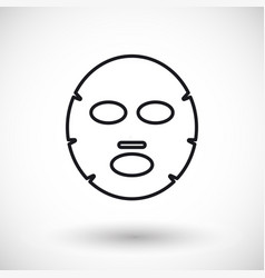 facial mask thin line web icon vector image