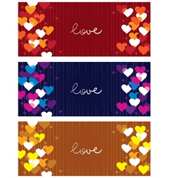 Horizontal love banners vector image vector image