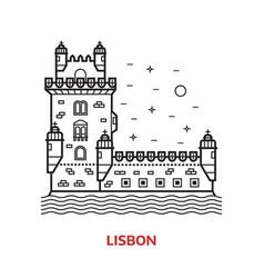 Lisbon landmark vector