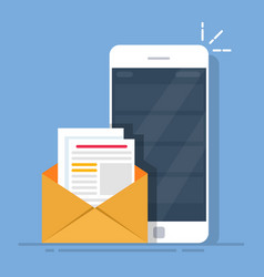 mail client on the mobile phone the concept of vector image vector image