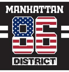 Manhattan district t-shirt vector